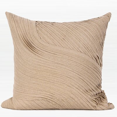 Mattox Textured Abstract Curve Line Pillow Cover