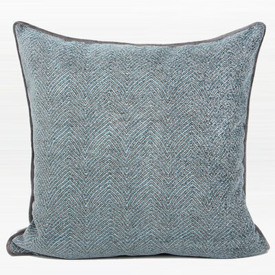Rodovre Chevron Jacquard Throw Pillow Color: Gray/Blue, Fill Material: Down/Feather