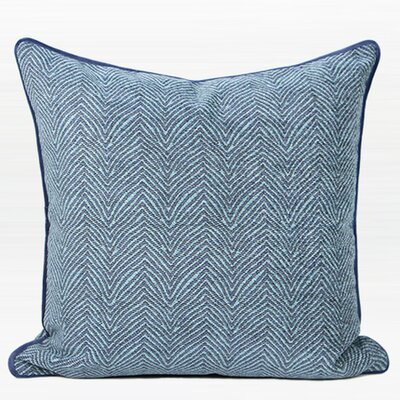 Shanti Chevron Jacquard Pillow Cover Color: Blue