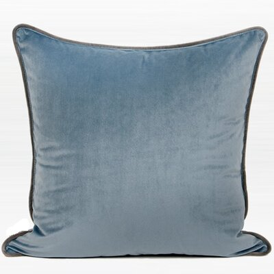 Larisa Solid Flannel Throw Pillow Color: Light Blue, Fill Material: Down/Feather