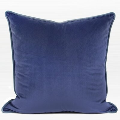 Audington Solid Flannel Pillow Cover Color: Blue