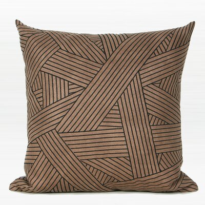 Larisa Abstract Stripe Embroidered Throw Pillow Fill Material: Down/Feather