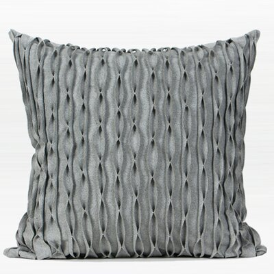Coty Geometric Handmade Textured Wave Wool Pillow Cover