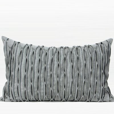 Coty Handmade Textured Wave Wool Lumbar Pillow Fill Material: Down/Feather