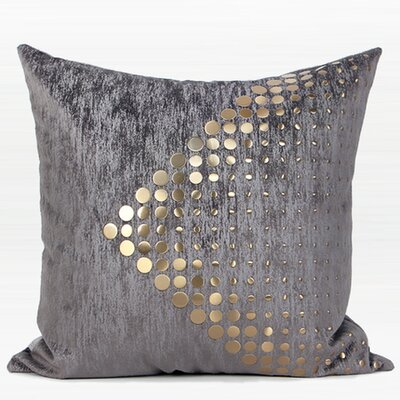 Larisa Modern Textured Dots Arrow Pattern  Pillow Cover
