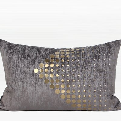Larisa Modern Textured Dots Arrow Pattern  Lumbar Pillow Fill Material: Down/Feather