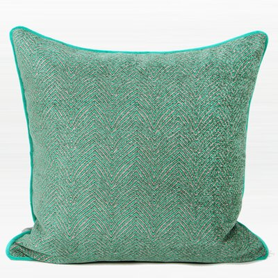 Shanti Chevron Jacquard Pillow Cover Color: Green