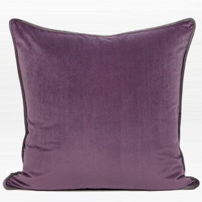 Larisa Solid Flannel Throw Pillow Color: Purple, Fill Material: Down/Feather