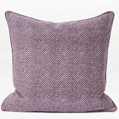 Shanti Chevron Jacquard Pillow Cover Color: Purple