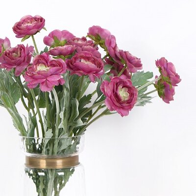 Silk Ranunculus Asiaticus Stem Flower Color: Rose Pink
