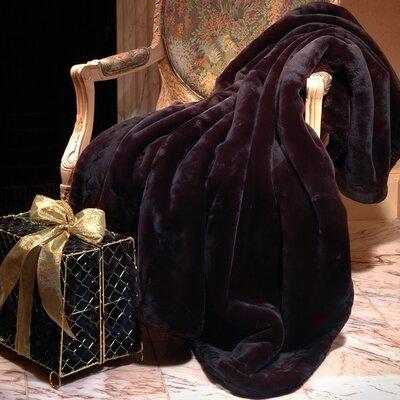 Velvety Plush Throw Blanket Color: Black