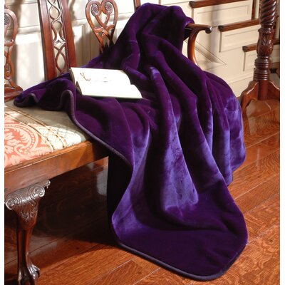 Velvety Plush Throw Blanket Color: Cobalt Blue