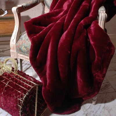 Velvety Plush Throw Blanket Color: Ruby