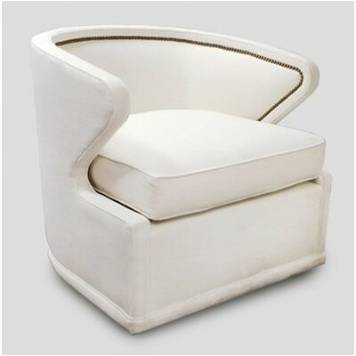 Monroe Swivel Barrel Chair Upholstery: Linen Dove