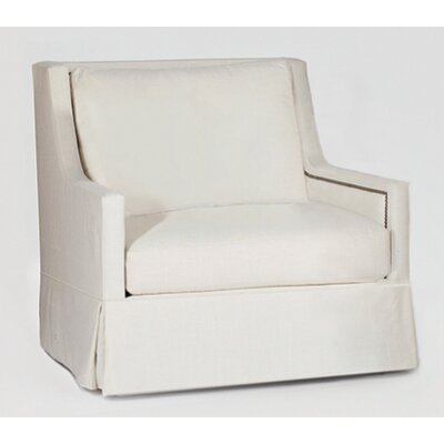 Helena Swivel Armchair Upholstery: Linen Dove