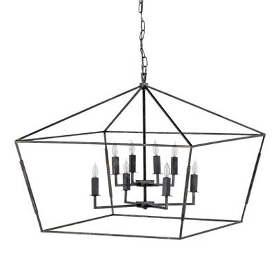Amelia 8-Light Foyer Pendant Color: Antique Bronze