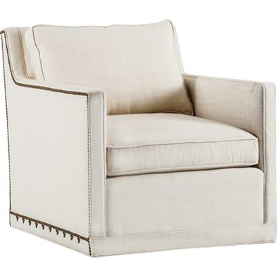 Nora Swivel Armchair Upholstery: Cream