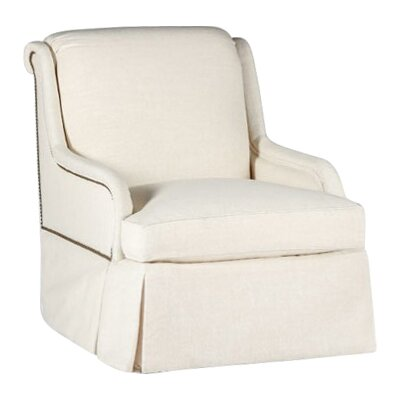 Charleston Swivel Armchair Upholstery: Cream