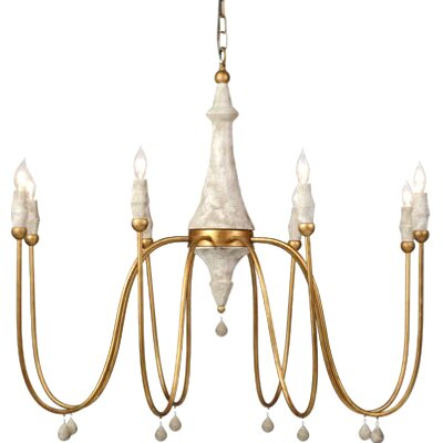 Clay 8-Light Candle-Style Chandelier
