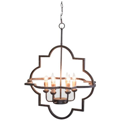 Athena 6-Light Foyer Pendant Color: Black