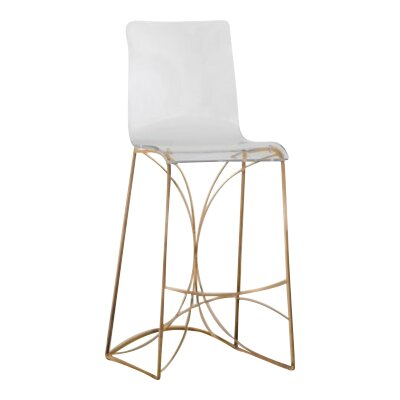 Angela 30 Bar Stool Finish: Antique Gold