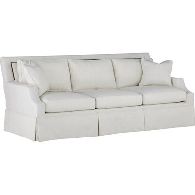 Paige Kick Pleat Sofa Upholstery: Cream