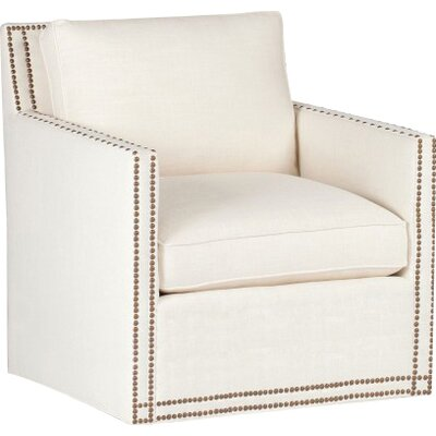 Carter Swivel Armchair Upholstery: Cream