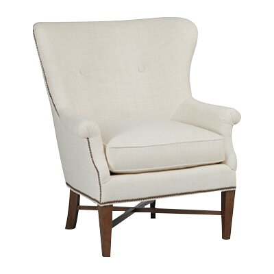Greta Wingback Chair Upholstery: Cream