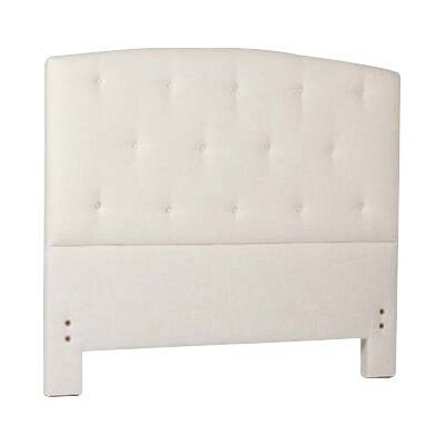 Eloise Upholstered Panel Headboard Size: Twin, Upholstery: Cream