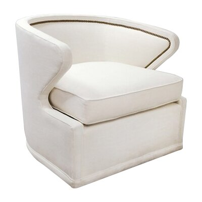 Monroe Swivel Armchair Upholstery: Cream