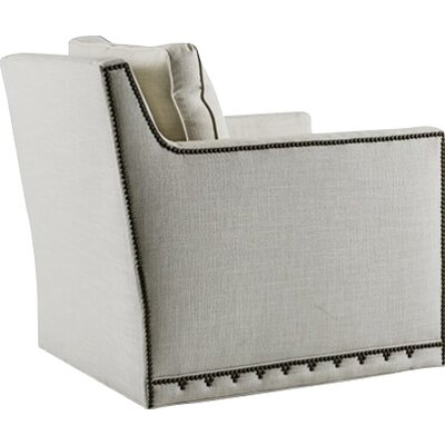 Nora Swivel Armchair Upholstery: Gray