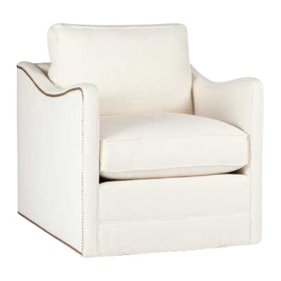 Porter Swivel Armchair Upholstery: Cream