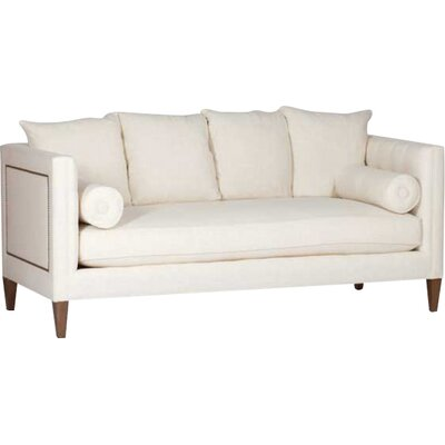 Pembroke Tufted Back Sofa Upholstery: Cream