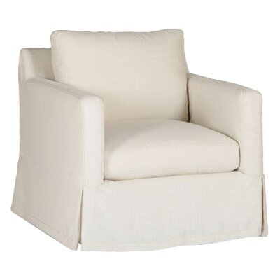 Hayes Swivel Armchair Upholstery: Cream