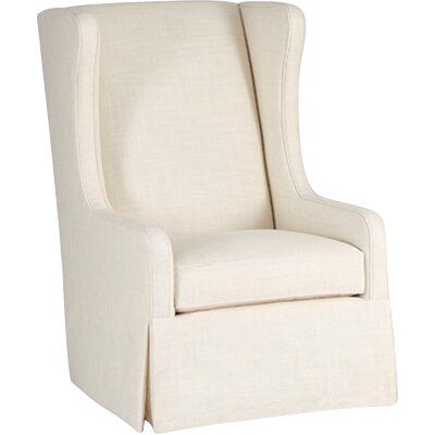 Reagan Swivel Wingback Chair Upholstery: Cream