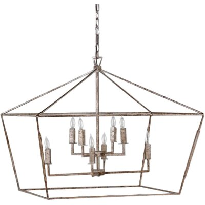 Amelia 8-Light Foyer Pendant Finish: Antique Brass