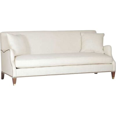 Lincoln Saddle Arm Sofa Upholstery: Gray