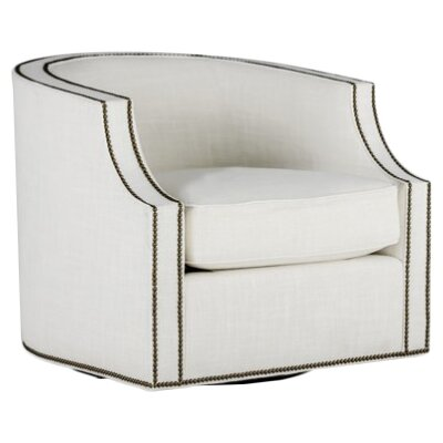 Willow Swivel Barrel Chair Upholstery: Cream