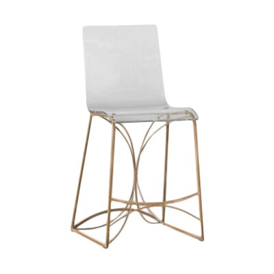 Angela 24.75 Bar Stool Finish: Antique Gold