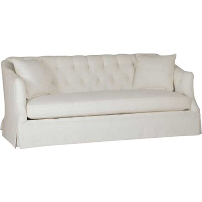 Marie Tufted Back Sofa Upholstery: Gray