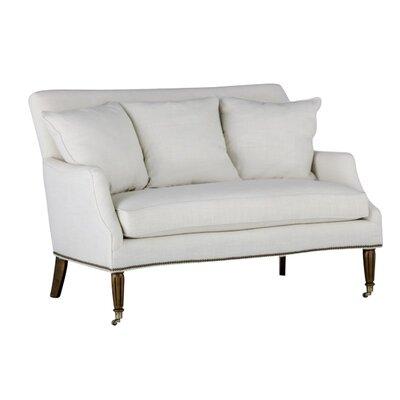 Dahlia Scatter Back Settee Upholstery: Gray
