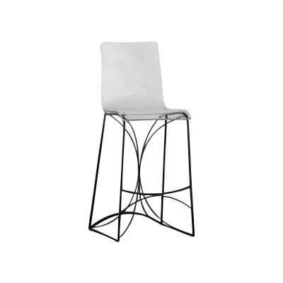 Angela 30 Bar Stool Finish: Black