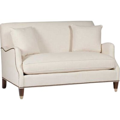 Lincoln Saddle Arm Loveseat Upholstery: Gray