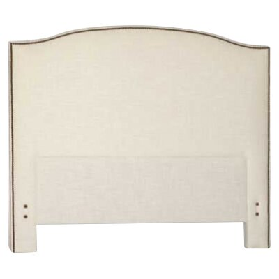 Maxwell Upholstered Panel Headboard Size: Twin, Upholstery: Cream