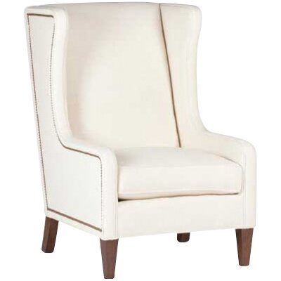 Reagan Wingback Chair Upholstery: Cream