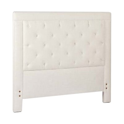 Darcy Upholstered Panel Headboard Size: King, Upholstery: Cream