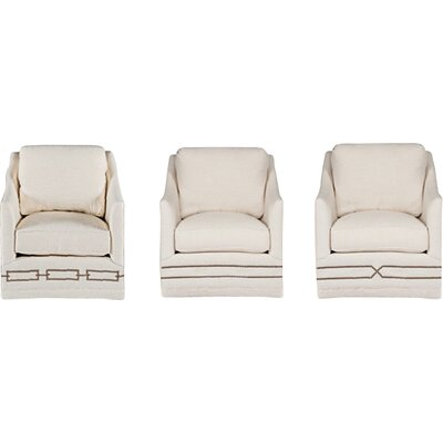 Baldwin Swivel Armchair Upholstery: Cream
