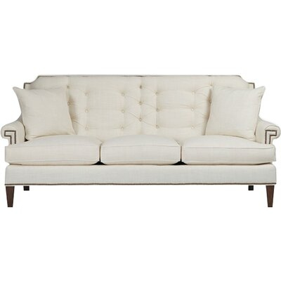 Victoria Tufted Back Sofa Upholstery: Gray