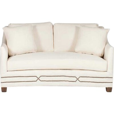 Baldwin Curved Loveseat Upholstery: Cream