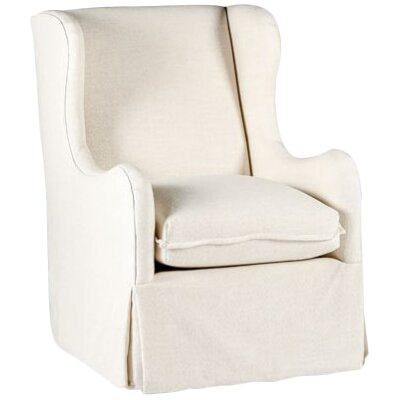 Harlow Swivel Wingback Chair Upholstery: Cream